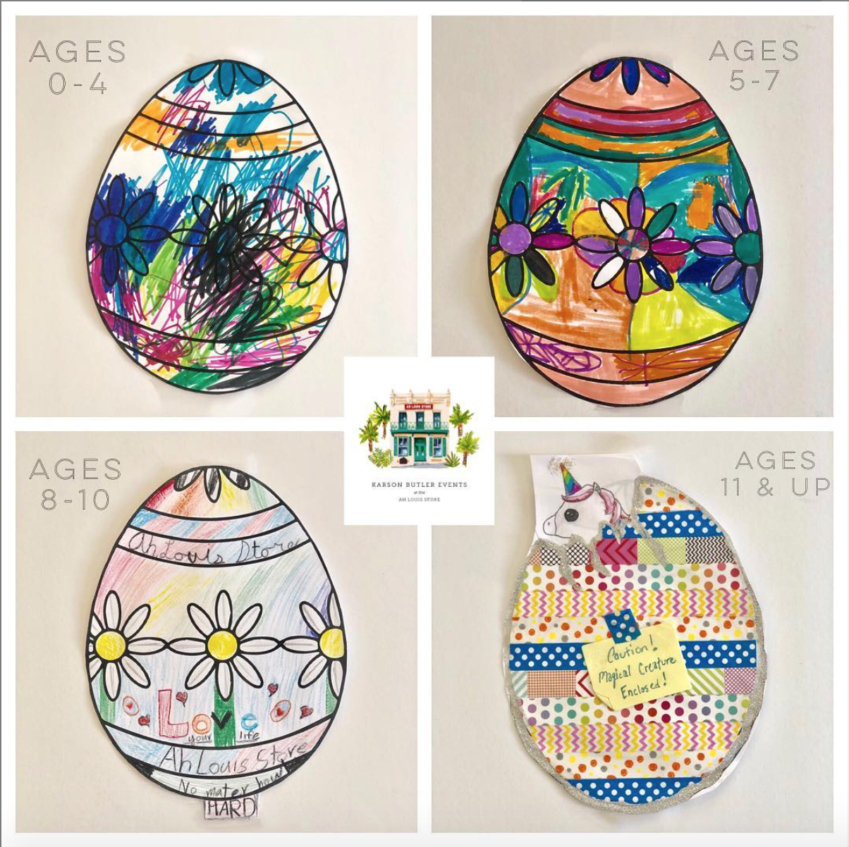 2019 Easter Coloring Contest WINNERS!